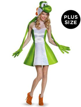 Plus Size Super Mario Bros: Yoshi Costume For Adults