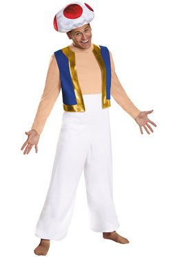 Super Mario Bros. Toad Deluxe Mens Costume