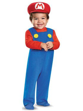 Super Mario Bros: Mario Costume For Toddlers