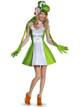 Super Mario Bros: Yoshi Costume For Adults