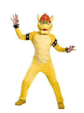 Super Mario Brothers Bowser Deluxe Boys Costume
