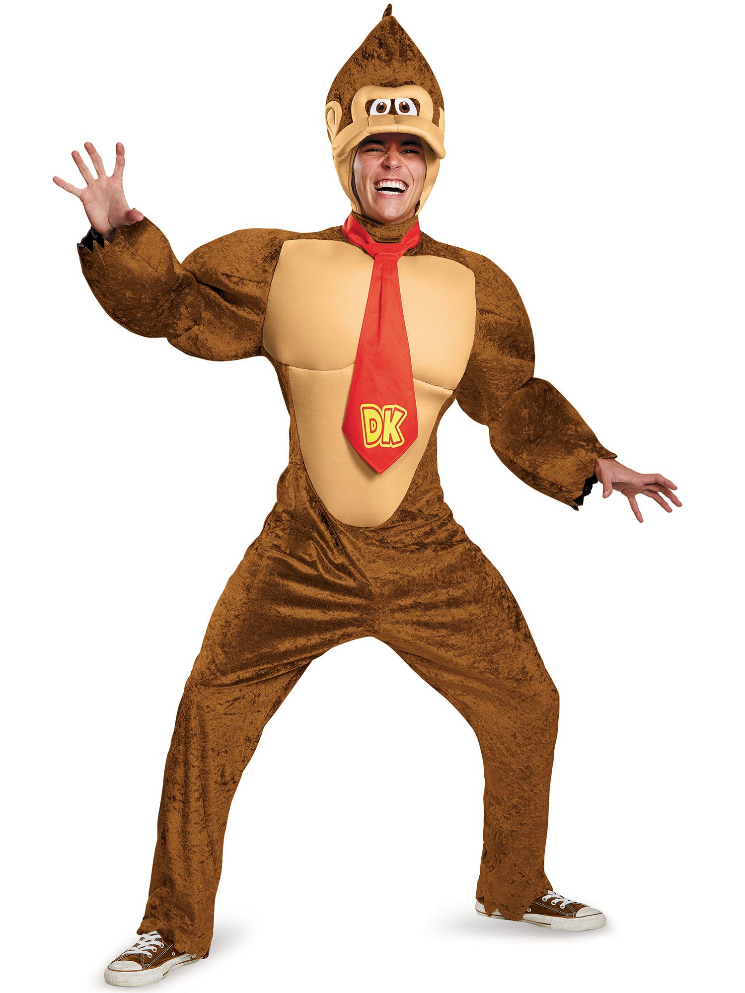 super mario brothers adult deluxe donkey kong costume - mens