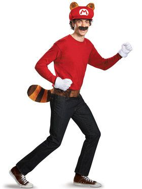 Super Mario Brothers Raccoon Adult For Halloween
