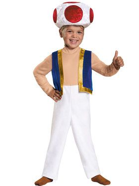 Super Mario Brothers Toad Costume Toddler