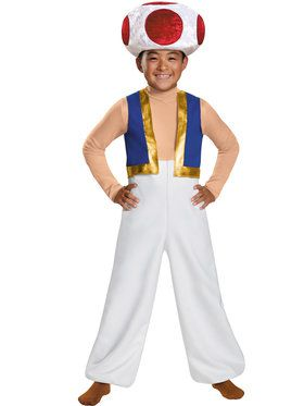 Super Mario Brothers Toad Deluxe Boys Costume