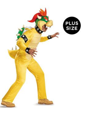 Plus Size Super Mario: Deluxe Bowser Costume For Adults