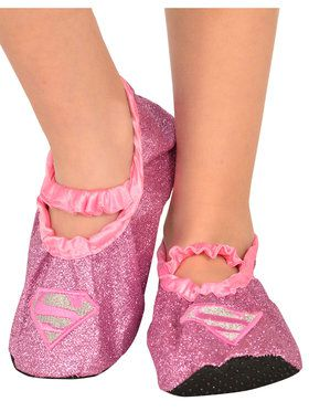 Supergirl - Classic Glitter Child Slipper Shoes