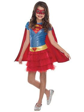 Supergirl Sequin Costume For Children