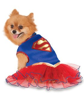 Supergirl Tutu Costume For Pets