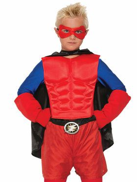 Superhero Muscle Chest Top Red Boy's Costume