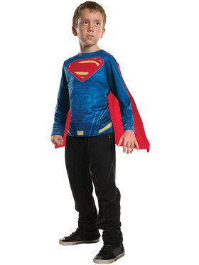 Superman Costume Top for Boys