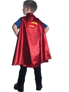 Superman Deluxe Child Cape Boy's Costume
