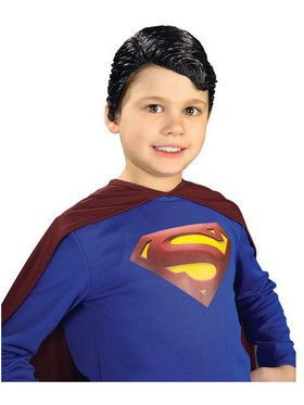 Superman Deluxe Vinyl Wig Child