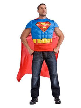 Superman Men's Muscle Chest Top Costume