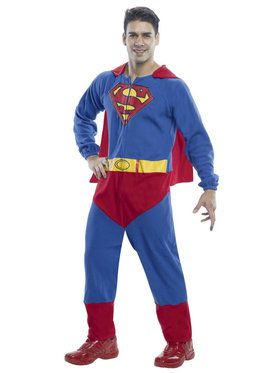 Superman Onesie Men's Costume