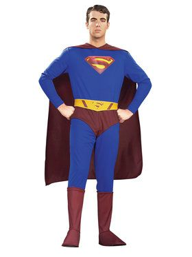 Superman Adult Movie Jumpsuit Costume