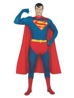 2nd Skin Superman Costume for Adult - DC Comics