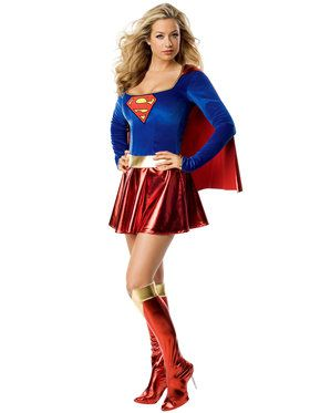 Superman Supergirl Sexy Adult Costume