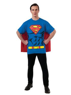 Superman T-Shirt Costume Kit for Men
