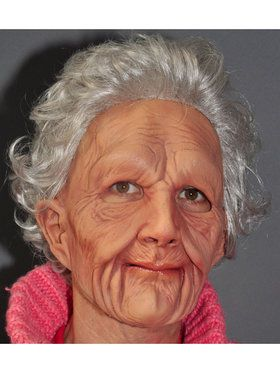 Supersoft Old Woman Mask w/ Hair
