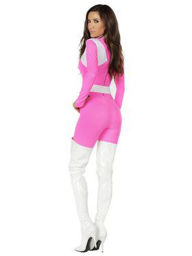 Supreme Sassy Pink Adult Superhero Costume