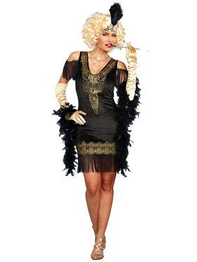 Swanky Flapper Dress Women's Adult Costume