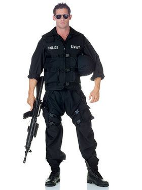 SWAT Jumpsuit Men's Costume