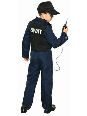 Swat Jumpsuit Unisex And Cap Costume