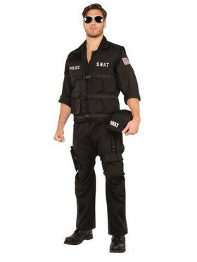 SWAT Police Men's Costume
