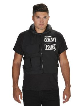 SWAT Team Vest Costume One Size For Adults