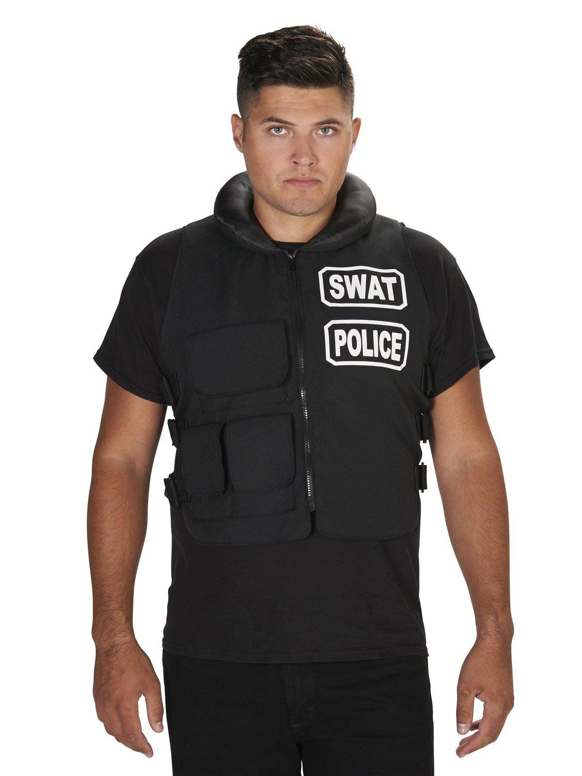 SWAT Team Vest Costume One Size For Adults  sc 1 st  Wholesale Halloween Costumes : vest costumes  - Germanpascual.Com