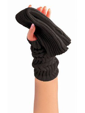 Sweater Arm Warmers Black