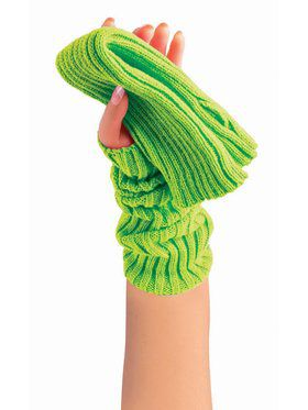 Sweater Arm Warmers Neon Green