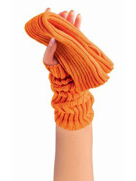 Sweater Arm Warmers Neon Orange