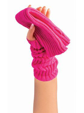 Sweater Arm Warmers Neon Pink