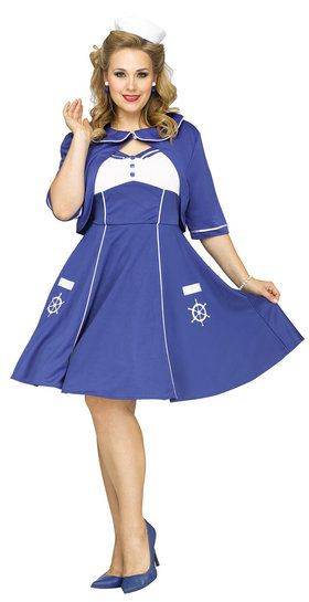 Sweet Sailin' Adult Plus Costume