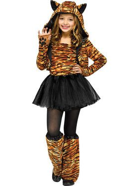 Sweet Tiger Girl's Costume