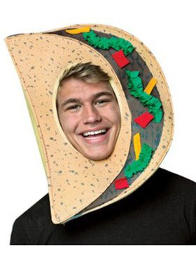 Adult Open Face Taco Head Mask