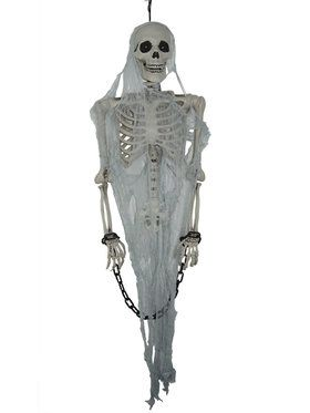 Talking Skeleton Prisoner Hanging Decoration