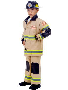 Tan Fire Fighter Boy's Cosutme