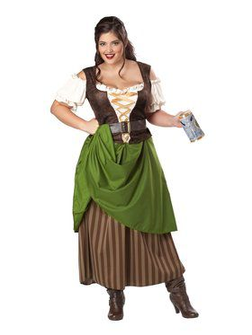 Tavern Maiden Womens Plus Costume