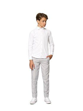 Opposuits Teen Boys Shirt White Knight Solid Shirt