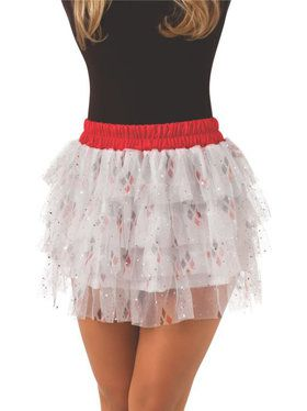 Teen Harley Quinn Skirt with Sequins