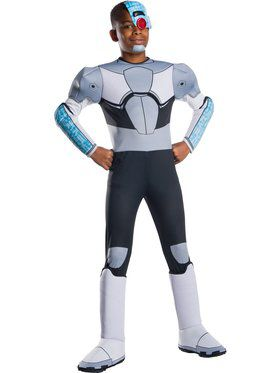 Teen Titan Go Movie Deluxe Cyborg Costume for Boys