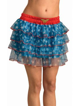 Teen Wonder Woman Skirt with Sequins