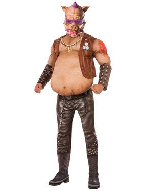 Teenage Mutant Ninja Turtle 2 Deluxe Bebop Men's Costume