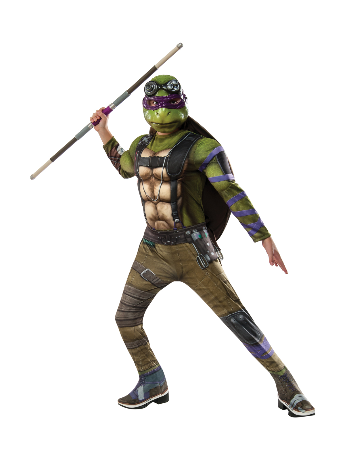 Teenage Mutant Ninja Turtles 2: Donatello Deluxe Movie Version Child Costume 245280