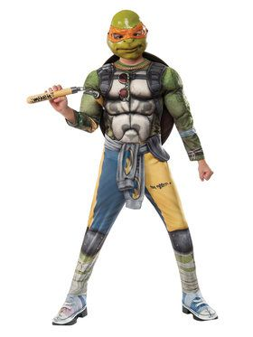 Teenage Mutant Ninja Turtles 2: Michelangelo Deluxe Movie Version Child Costume