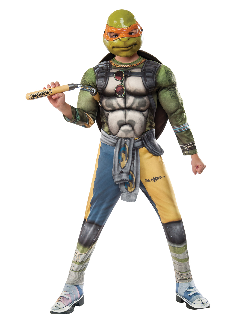 Teenage Mutant Ninja Turtles 2: Michelangelo Deluxe Movie Version Child Costume 245283