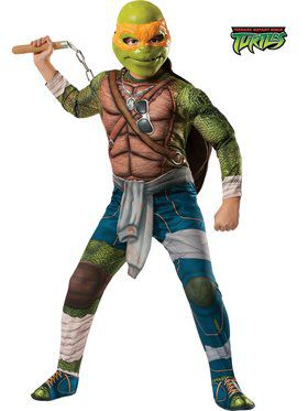 Teenage Mutant Ninja Turtle's Deluxe Michelangelo Boy's Costume